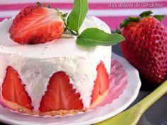 Aux délices de Géraldine: Fraises à la chantilly mascarpone, citron vert - basilic façon fraisier
