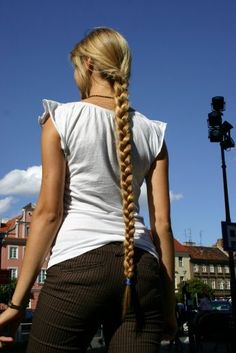 long braid Cool!  Lara Croft style! :)