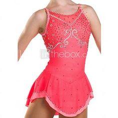 Vestido de Patinaje Sobre Hielo Mujer Sin Mangas Patinaje Vestidos Alta elasticidad Figura vestido de patinaje Transpirable / Cómodo 2017 - $236.99