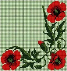 This Pin was discovered by Eli Cross Stitch Rose, Cross Stitch Borders, Cross Stitch Flowers, Cross Stitch Designs, Cross Stitching, Embroidery Sampler, Cross Stitch Embroidery, Embroidery Patterns, Hand Embroidery
