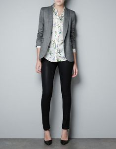SINGLE BUTTON BLAZER - Blazers - Woman - ZARA