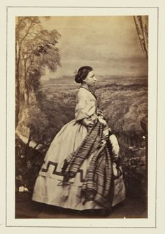 John Jabez Edwin Mayall (1813-1901) - Princess Helena, 1861 [in Portraits of Royal Children Vol.5 1860-1861]