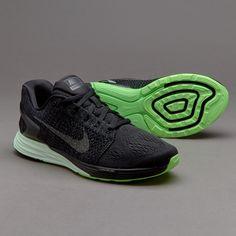 Nike Womens Lunarglide 7 LB - Black/Metallic Pewter