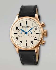 Classico Chronograph Watch, Black/Gold by Brera at Neiman Marcus.