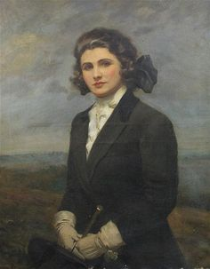 Albert Henry Collings (d.1947) Portrait of Miss Melhursh