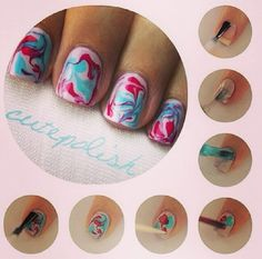 Nailart multicolore
