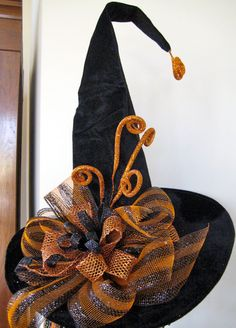Witches Hat  Tall Velvet Witch Hat by SprigsHolidayDecor on Etsy, $60.00