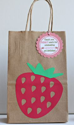 strawberry shortcake party birthday goody bags by ILoveYouBunches