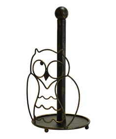 Boston Warehouse Owl Metal Paper Towel Holder - Beyond the Rack Owl Kitchen Decor, Owl Home Decor, Kitchen Themes, Kitchen Ideas, Paper Owls, Beyond The Rack, Paper Towel Holder, Creature Comforts, Owl House