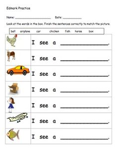 Printables Functional Reading Worksheets special education worksheets for use with edmark reading program review packet the concierge of teacherspayteachers com