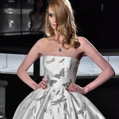 All About the Diamond-Dusted Wedding Gown From Reem Acra's Bridal Show at Tiffany