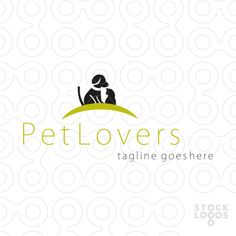 2 animals dog and cat, that usually fighting, sit together . great logo for for pet shops, veterinarian etc