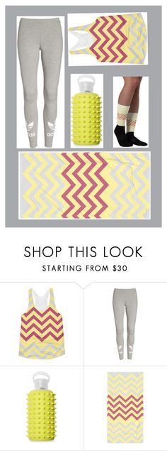 """""""Gray and Yellow Sporty Set"""" by trifonovska-nevena ❤ liked on Polyvore featuring adidas and bkr"""