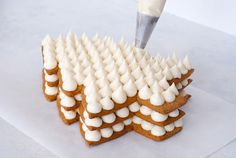 Cream Tart Tree Cake - gingerbread cookie with cream cheese frosting and fest. Cream Cheese Cookies, Cookies And Cream, Christmas Cooking, Christmas Desserts, Christmas Tree Cake, Alphabet Cake, Tree Cakes, Cake Shapes, Number Cakes