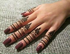 Unique Finger Mehndi Designs That You'll Absolutely Love - henna - Henna Designs Hand Henna Hand Designs, Eid Mehndi Designs, Finger Mehendi Designs, Henna Tattoo Designs Simple, Mehndi Designs For Fingers, Latest Mehndi Designs, Mehndi Designs For Beginners, Palm Mehndi Design, Fingers Design