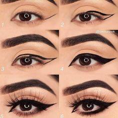 Perfect Makeup Tips For Your Stunning Almond Eyes Eyeliner Tutorial Almond eyes Makeup Perfect Stunning Tips No Eyeliner Makeup, Eye Makeup Tips, Contour Makeup, Makeup Ideas, Beauty Makeup, Basic Makeup, Makeup Trends, 90s Makeup, Makeup Books