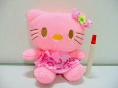 boneka hello kitty pink lucu