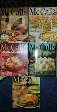 Bundle of Five - Vintage McCall's Cookbooks-First 4 In Series Plus Index-1974