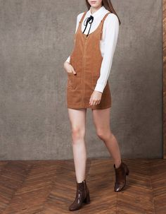 At Stradivarius you'll find 1 Corduroy pinafore dress for woman for just 55.95 BAM . Visit now to discover this and more DRESSES.