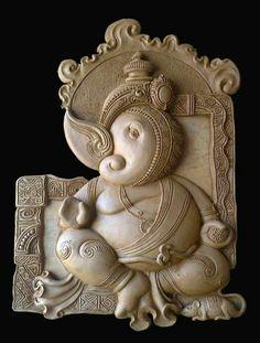 Clay Wall Art, Mural Wall Art, Mural Painting, Ceramic Painting, Clay Art, Murals, Paintings, Ganesha Art, Buddha