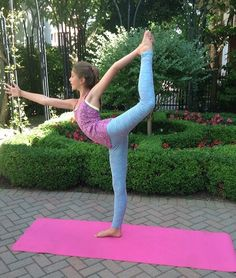 Sofia practices yoga to help improve her flexibility for dance #newyearnextlevel