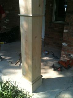 DIY Front Porch Columns | Beneath My Heart