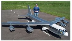 Gigantic Scale Radio Controlled B-52 with 22 foot wingspan weighing over 265lbs. See more Giant Scale RC airplanes at www.hooked-on-rc-airplanes.com #rcairplanes