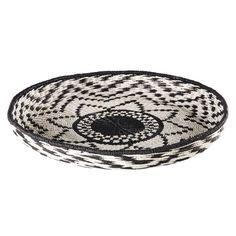 AGADIR black and white woven basket D 67 cm