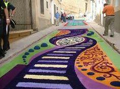 Elche de la sierra alfombras de serrín