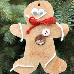 sandpaper gingerbread ornaments