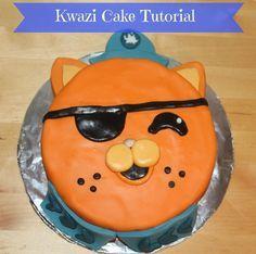 Kwazi Cake Tutorial. Really easy cake for an octonauts fan