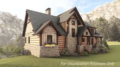 With m², this mountain rustic house plan offers 3 bedrooms, bathrooms, an attic, a dirty room and an open floor plan. Visit our website to learn more about this Mountain Rustic house plan. Plans Loft, Loft Floor Plans, Cabin Plans, Log Cabin Floor Plans, Small Rustic House, Rustic House Plans, Small House Plans, Rustic Houses, Mountain House Plans