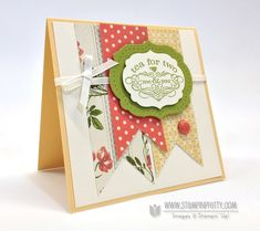 Tea Shoppe stamp set - Mary Fish, Independent Stampin' Up! Demonstrator.  Details, supply list and more card ideas on http://stampinpretty.com/2013/04/stampin-up-tea-for-two-with-mojo.html