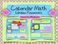Calendar Math for your Interactive Smart board Editable Powerpoint