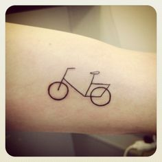 Bicycle minimal tattoo
