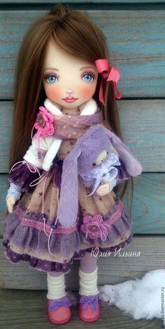 Купить Текстильная кукла - кукла ручной работы, кукла интерьерная, кукла текстильная
