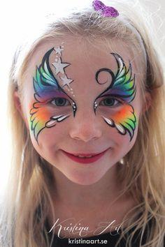 Face painting butterfly. Ansiktsmålning fjäril. kristinaart.se