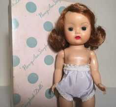 FABULOUS Vintage 1950's Nancy Ann Boxed MUFFIE Doll LOVELY FACE UNCOMBED HAIR #NancyAnn #Dolls