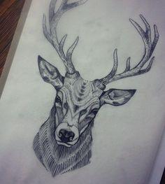 Resultado de imagen de deer tattoo