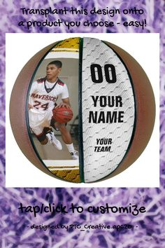 Swish Custom Basketball - tap/click to get yours right now! #senior #gift, #night, #basketball #coach