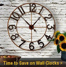 Tuscan Wall Clock Sale