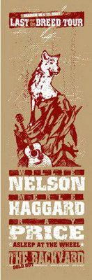 Willie Nelson Merle Haggard Austin 07 Gig Poster s N Ed | eBay
