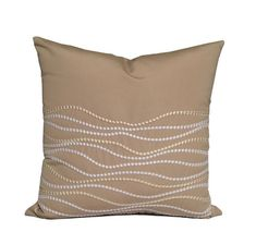 SOHIL I Outdoor pillow with embroidered wave pattern from our Limited Edition collection www.sohildesign.com