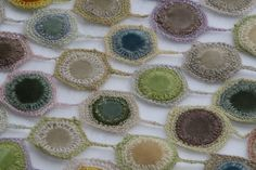 Sophie Digard crochet design with velvet circles