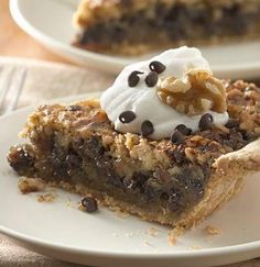 Kentucky Chocolate and Walnut Pie, ooo I'm so making this with a GF pie crust in tassie style (petit pies), mmm.