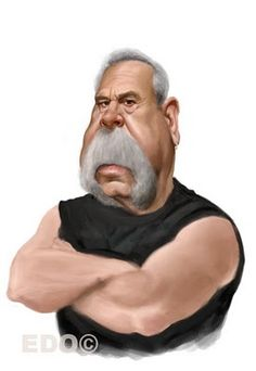 Paul Sr, Orange County Choppers...I did not really like his character but the drawing is superb!
