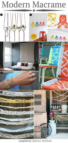 modern macrame projects: