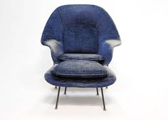Early Eero Saarinen for Knoll Womb Lounge Chair and Ottoman   From a unique collection of antique and modern club chairs at https://www.1stdibs.com/furniture/seating/club-chairs/