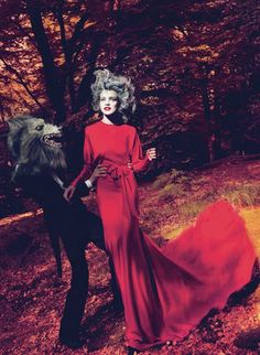 Vogue Little Red Riding Hood Natalia Vodianova photoshoot