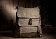 Canvas Backpacks  I love this
